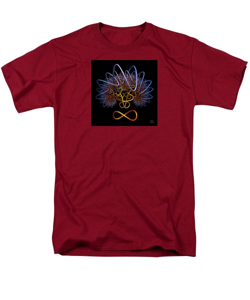 Men's T-Shirt  (Regular Fit) featuring the digital art Transinfinity - A Fractal Artifact by Manny Lorenzo
