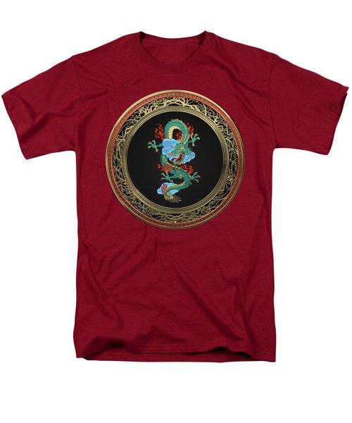 Treasure Trove - Turquoise Dragon Over Red Velvet Men's T-Shirt  (Regular Fit) by Serge Averbukh