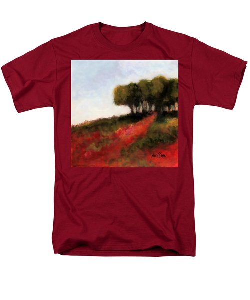 Men's T-Shirt  (Regular Fit) featuring the painting Trees On The Hill by Marti Green