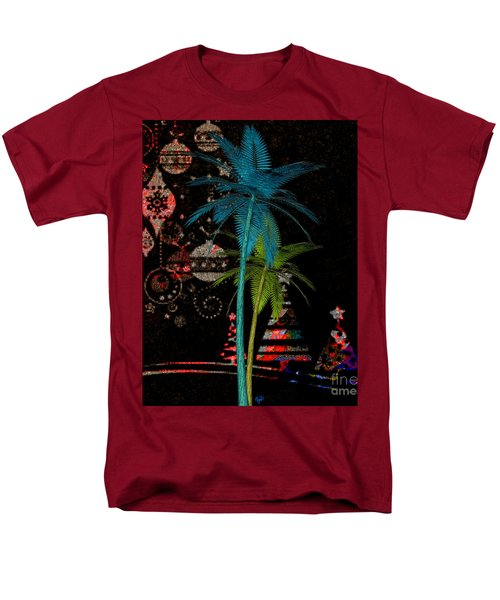 Men's T-Shirt  (Regular Fit) featuring the digital art Tropical Holiday Red by Megan Dirsa-DuBois