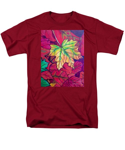 Turning Maple Leaf In The Fall Men's T-Shirt  (Regular Fit) by Kimberlee Baxter