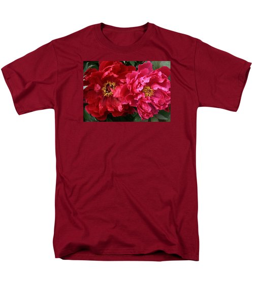Men's T-Shirt  (Regular Fit) featuring the photograph Twin Peonies by Bruce Bley