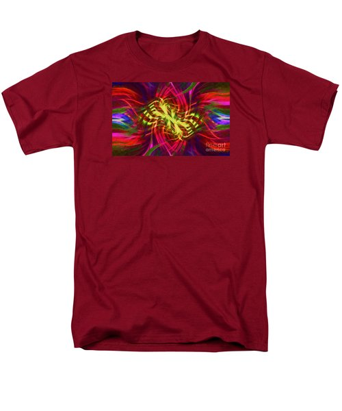 Men's T-Shirt  (Regular Fit) featuring the photograph Twirly Mandala 02 by Jack Torcello
