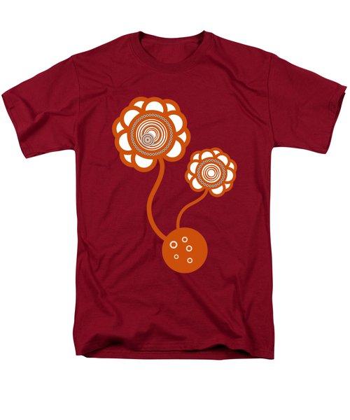 Two Orange Flowers Men's T-Shirt  (Regular Fit) by Frank Tschakert
