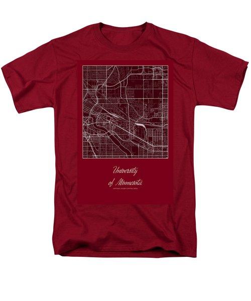 U Of M Street Map - University Of Minnesota Minneapolis Map Men's T-Shirt  (Regular Fit) by Jurq Studio