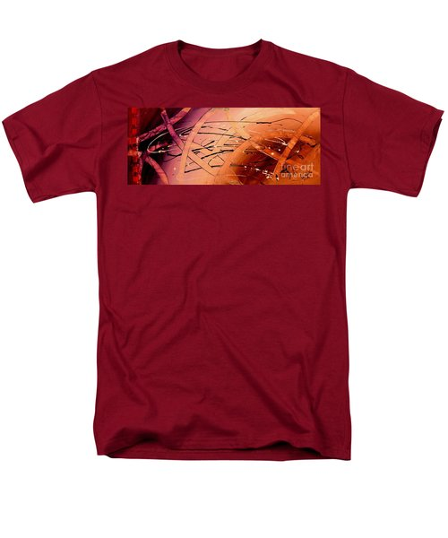 Under The Sea Abstract Modern Art By Saribelle Men's T-Shirt  (Regular Fit) by Saribelle Rodriguez