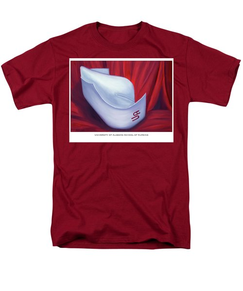 Men's T-Shirt  (Regular Fit) featuring the painting University Of Alabama School Of Nursing by Marlyn Boyd