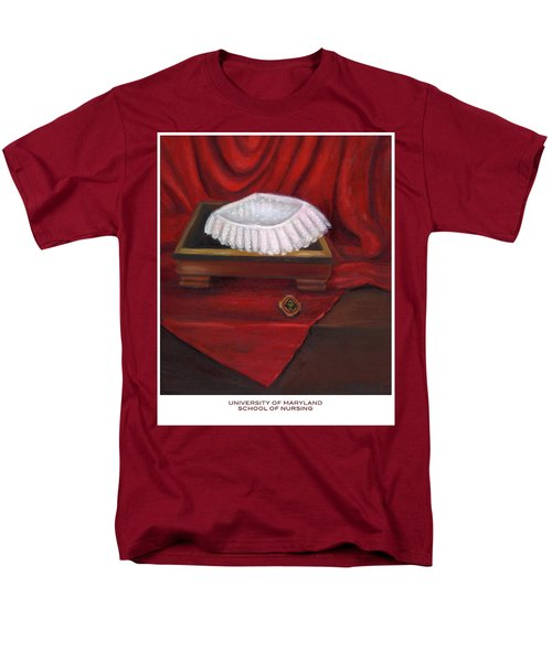 Men's T-Shirt  (Regular Fit) featuring the painting University Of Maryland School Of Nursing by Marlyn Boyd