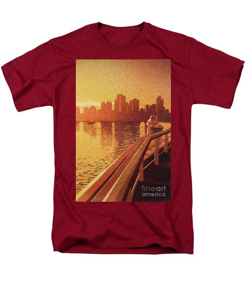 Men's T-Shirt  (Regular Fit) featuring the painting Vancouver Morning- Bc by Ryan Fox