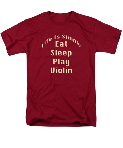 Violin Viola Eat Sleep Play Violin 5521.02 Men's T-Shirt  (Regular Fit) by M K  Miller
