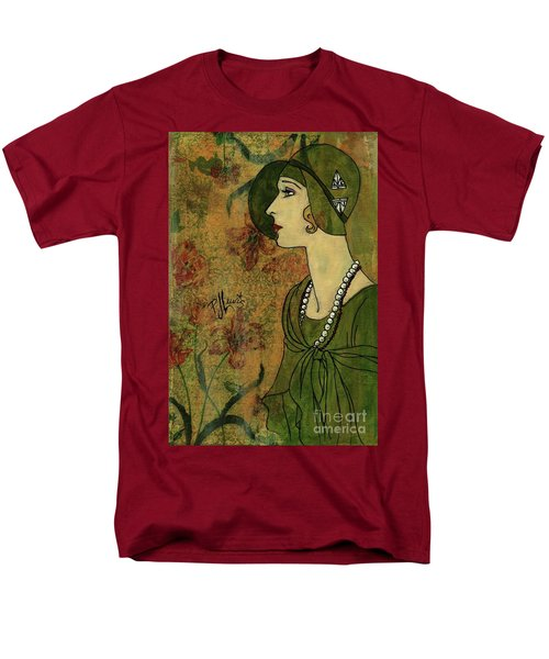 Men's T-Shirt  (Regular Fit) featuring the painting Vogue Twenties by P J Lewis