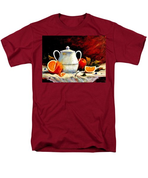 Men's T-Shirt  (Regular Fit) featuring the painting Warm Light by Cristina Mihailescu
