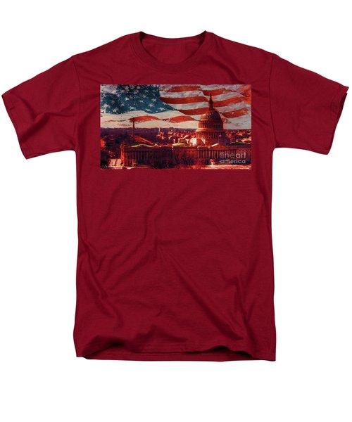 Washington Dc Building 76h Men's T-Shirt  (Regular Fit) by Gull G