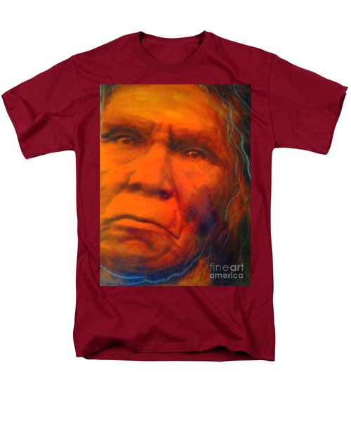 Men's T-Shirt  (Regular Fit) featuring the painting We Are First Nation by FeatherStone Studio Julie A Miller