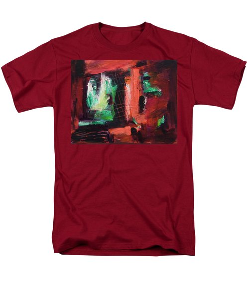 Window Original Acrylic Painting Men's T-Shirt  (Regular Fit) by Yulia Kazansky