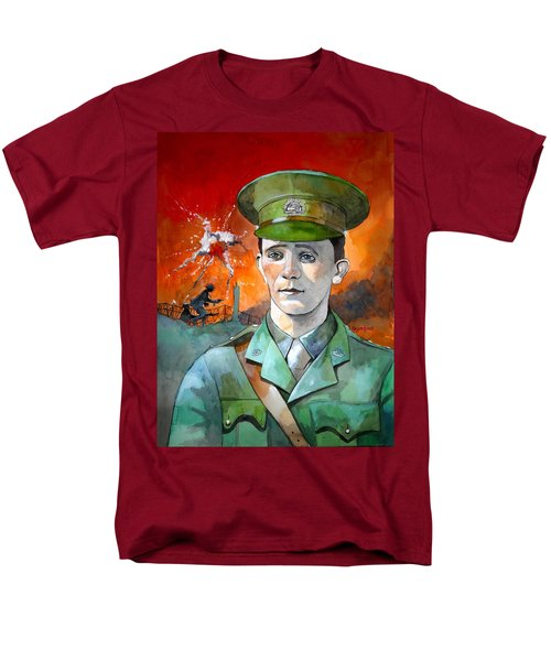 Men's T-Shirt  (Regular Fit) featuring the painting W.j. Symons Vc by Ray Agius