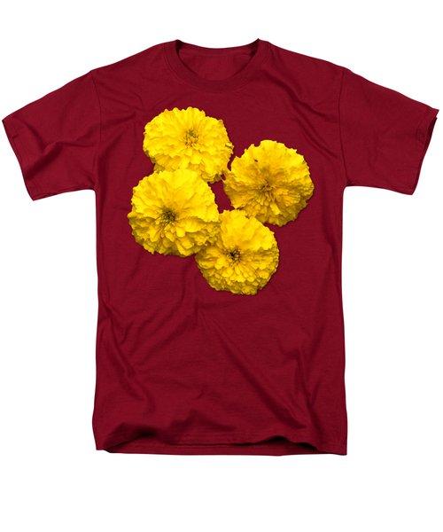 Yellow Flowers Men's T-Shirt  (Regular Fit) by Bob Slitzan