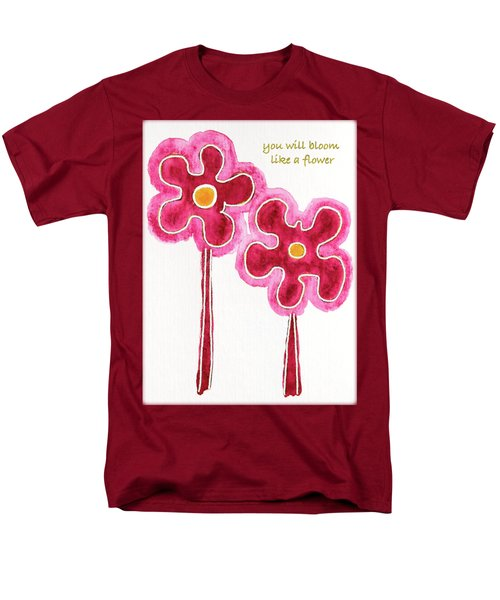 Men's T-Shirt  (Regular Fit) featuring the drawing You Will Bloom Like A Flower by Frank Tschakert