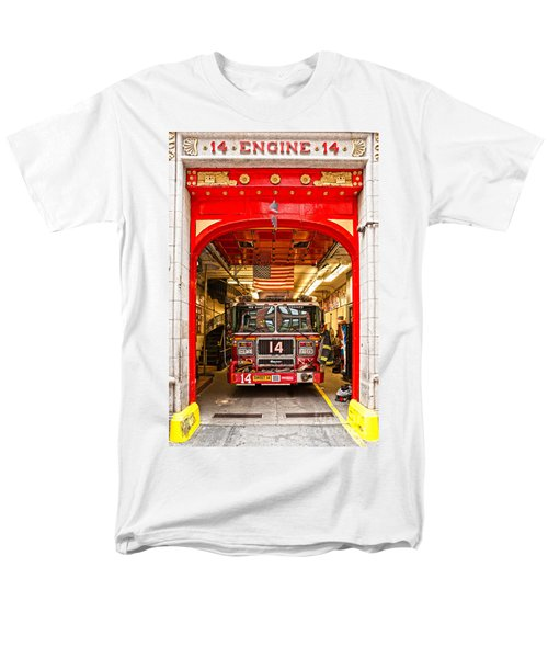New York Fire Department Engine 14 Men's T-Shirt  (Regular Fit) by Luciano Mortula