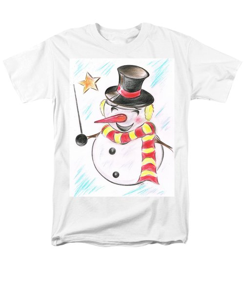 Snowmans  Stardom Men's T-Shirt  (Regular Fit) by Teresa White