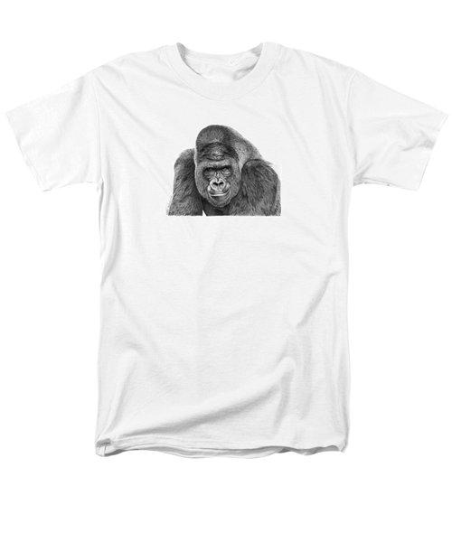 042 - Gomer The Silverback Gorilla Men's T-Shirt  (Regular Fit) by Abbey Noelle