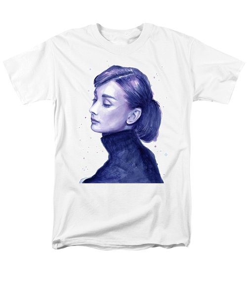 Audrey Hepburn Portrait Men's T-Shirt  (Regular Fit) by Olga Shvartsur