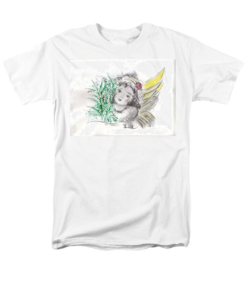 Christmas Angel Men's T-Shirt  (Regular Fit) by Laurie L