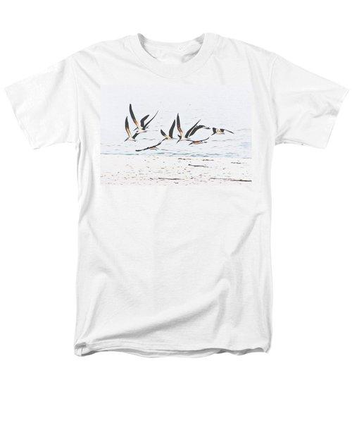 Coastal Skimmers Men's T-Shirt  (Regular Fit) by Scott Cameron