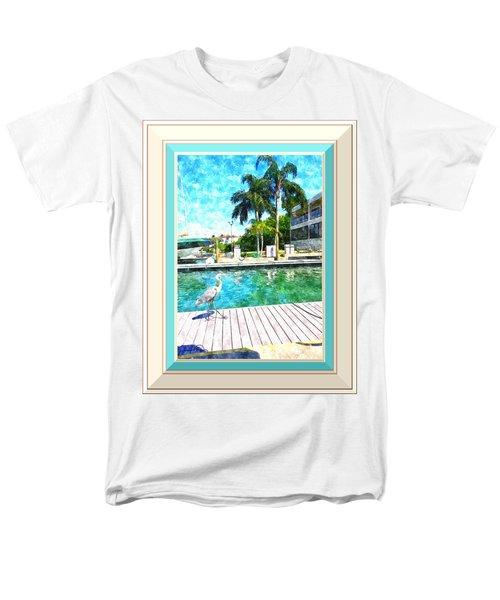 Dry Dock Bird Walk - Digitally Framed Men's T-Shirt  (Regular Fit) by Susan Molnar