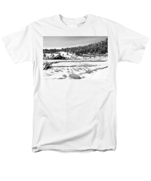 Men's T-Shirt  (Regular Fit) featuring the photograph Evergreen Lake House Winter by Ron White