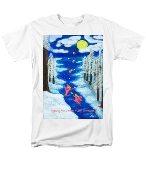 Faery Merry Christmas Men's T-Shirt  (Regular Fit) by Diana Haronis