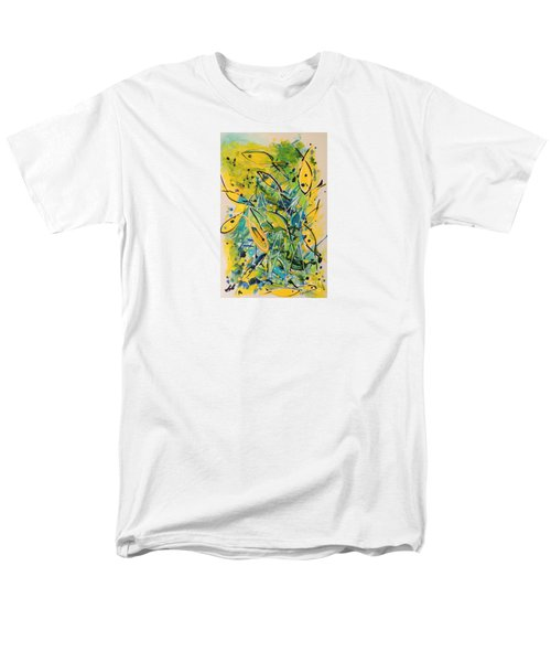 Men's T-Shirt  (Regular Fit) featuring the painting Fish Frenzy by Lyn Olsen
