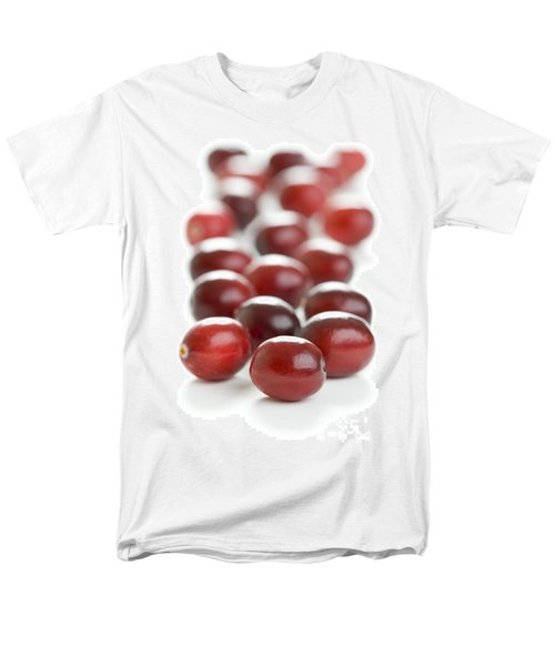 Men's T-Shirt  (Regular Fit) featuring the photograph Fresh Cranberries Isolated by Lee Avison