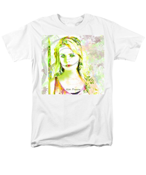 Men's T-Shirt  (Regular Fit) featuring the digital art Lily Lime by Kim Prowse