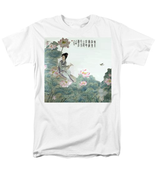 Men's T-Shirt  (Regular Fit) featuring the photograph Lotus Pond by Yufeng Wang