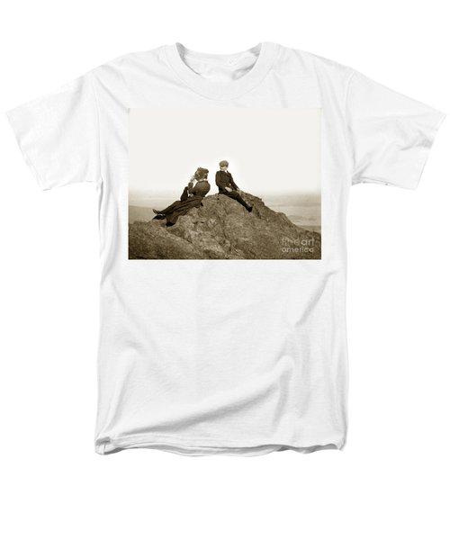 Men's T-Shirt  (Regular Fit) featuring the photograph Mount Tamalpais Marin County  Circa 1902 by California Views Mr Pat Hathaway Archives