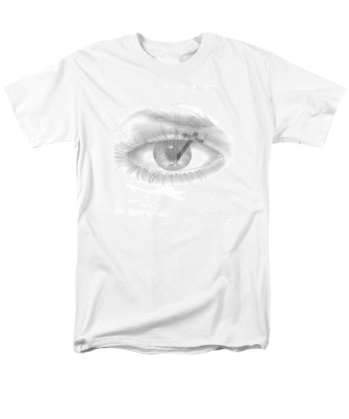 Men's T-Shirt  (Regular Fit) featuring the drawing Plank In Eye by Terry Frederick