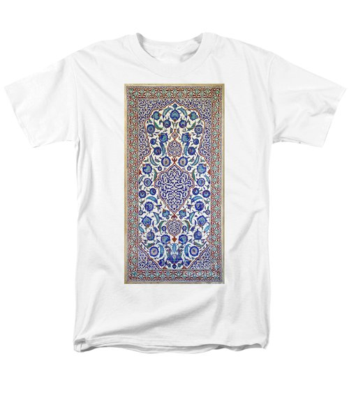 Sultan Selim II Tomb 16th Century Hand Painted Wall Tiles Men's T-Shirt  (Regular Fit) by Ralph A  Ledergerber-Photography
