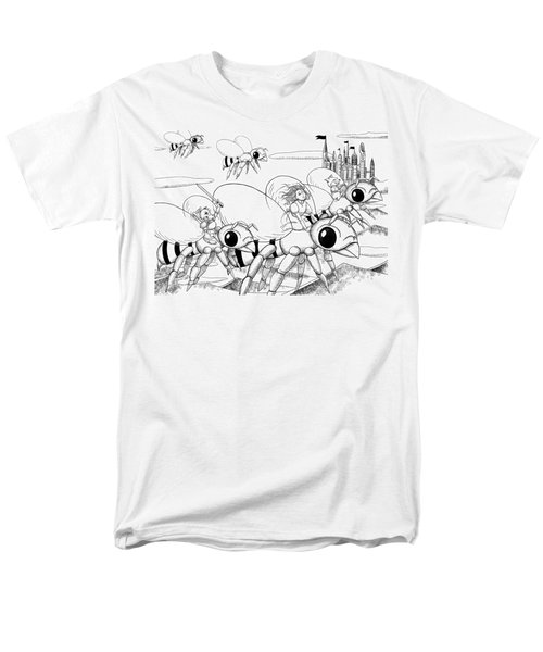 Men's T-Shirt  (Regular Fit) featuring the drawing Tammy In Polynesia by Reynold Jay