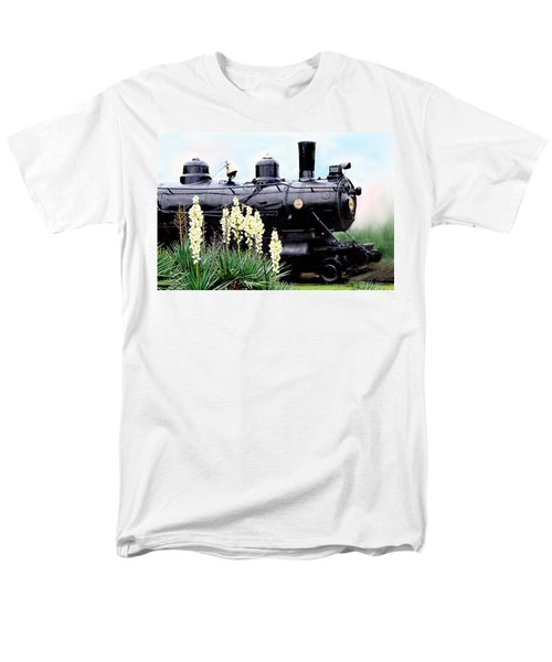 The Black Steam Engine Men's T-Shirt  (Regular Fit) by Bonnie Willis