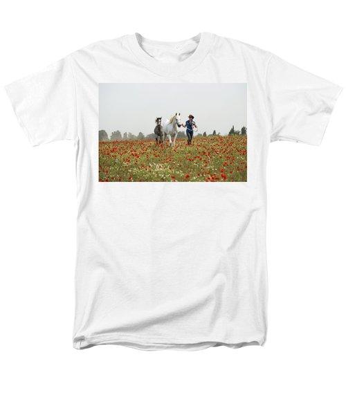 Three At The Poppies' Field... 3 Men's T-Shirt  (Regular Fit) by Dubi Roman