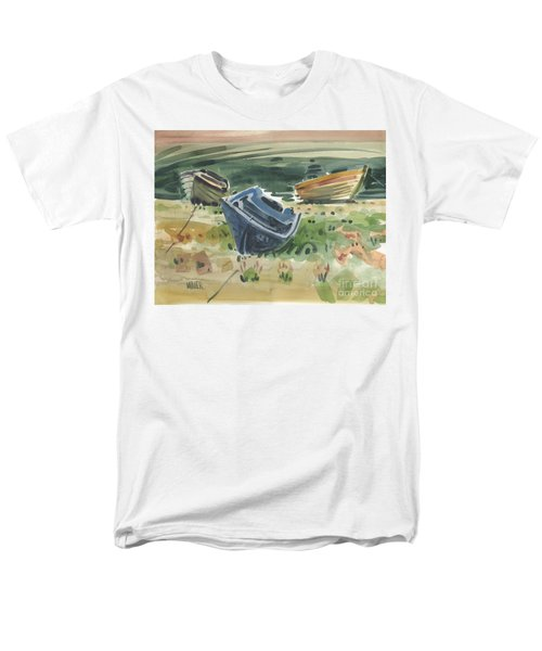 Men's T-Shirt  (Regular Fit) featuring the painting Three Boats by Donald Maier