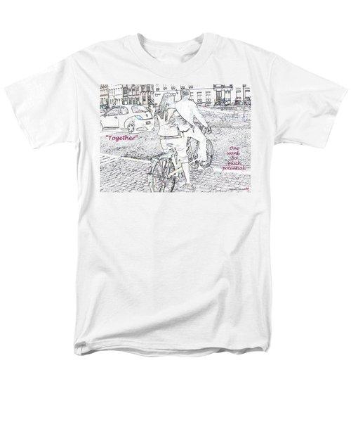 Together Men's T-Shirt  (Regular Fit) by Rhonda McDougall
