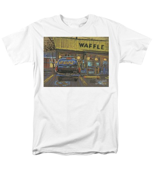 Men's T-Shirt  (Regular Fit) featuring the painting Waffle House by Donald Maier