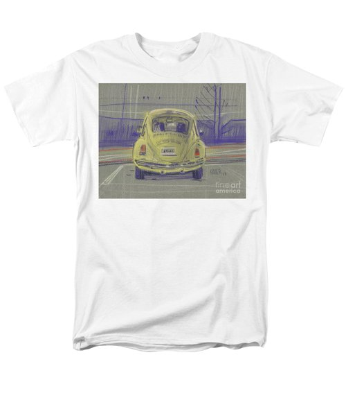 Men's T-Shirt  (Regular Fit) featuring the painting Yellow Beetle by Donald Maier