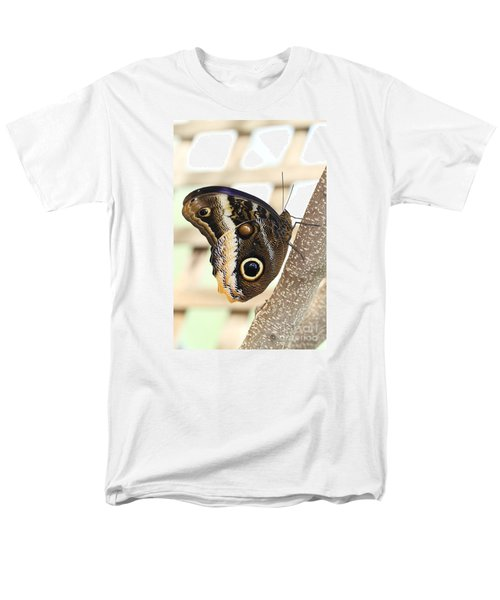 Yellow-edged Giant Owl Butterfly #4 Men's T-Shirt  (Regular Fit) by Judy Whitton
