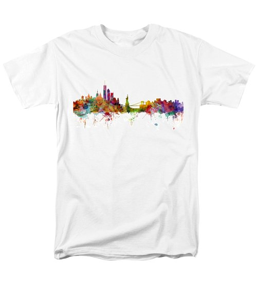 New York Skyline Men's T-Shirt  (Regular Fit) by Michael Tompsett