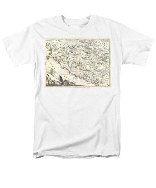 1690 Coronelli Map Of Montenegro Men's T-Shirt  (Regular Fit) by Paul Fearn