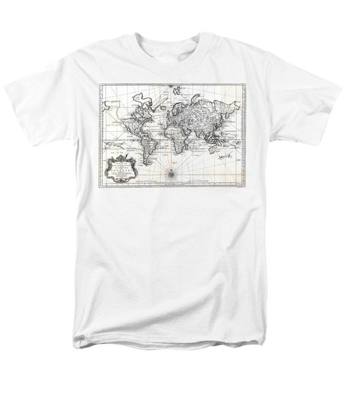 1748 Antique World Map Versuch Von Einer Kurzgefassten Karte  Men's T-Shirt  (Regular Fit) by Karon Melillo DeVega