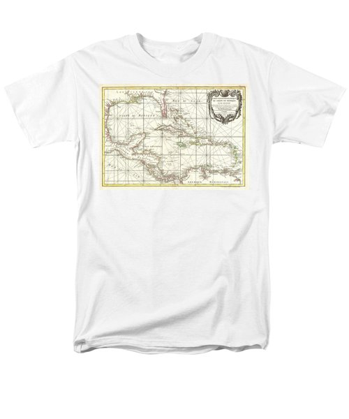 1762 Zannoni Map Of Central America And The West Indies Men's T-Shirt  (Regular Fit) by Paul Fearn